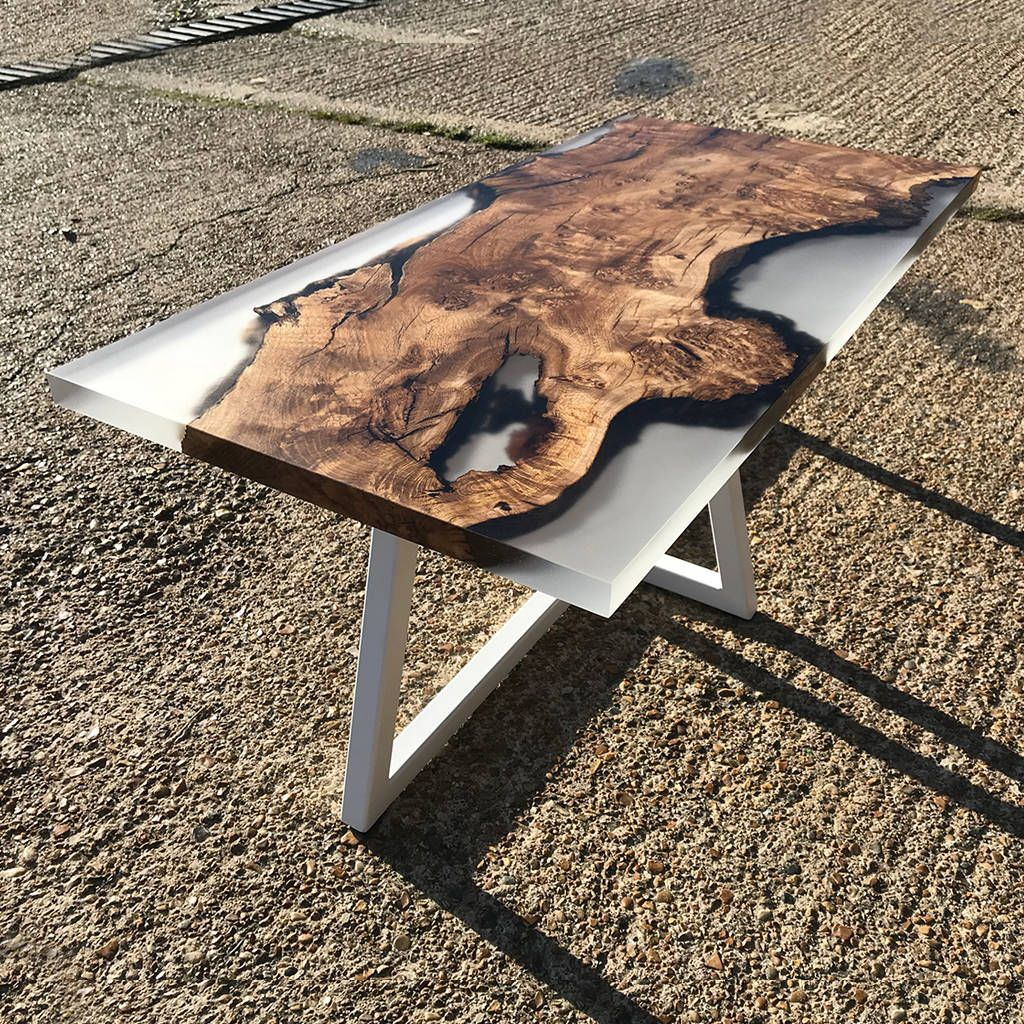 Glacier resin coffee table round wood coffee table
