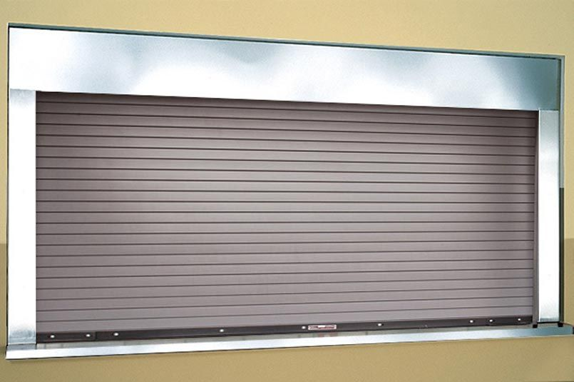 Model 662 Fire Rated Counter Doors An Integral Frame Are Suited For Many Applications Including Schools Re In 2020 Fire Rated Doors Door Insulation Steel Garage Doors