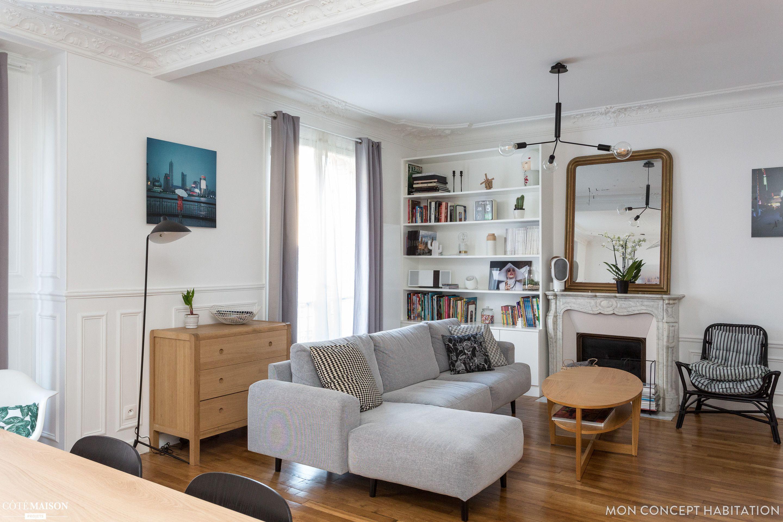 Rénovation d un appartement  Vincennes Conservation des moulures