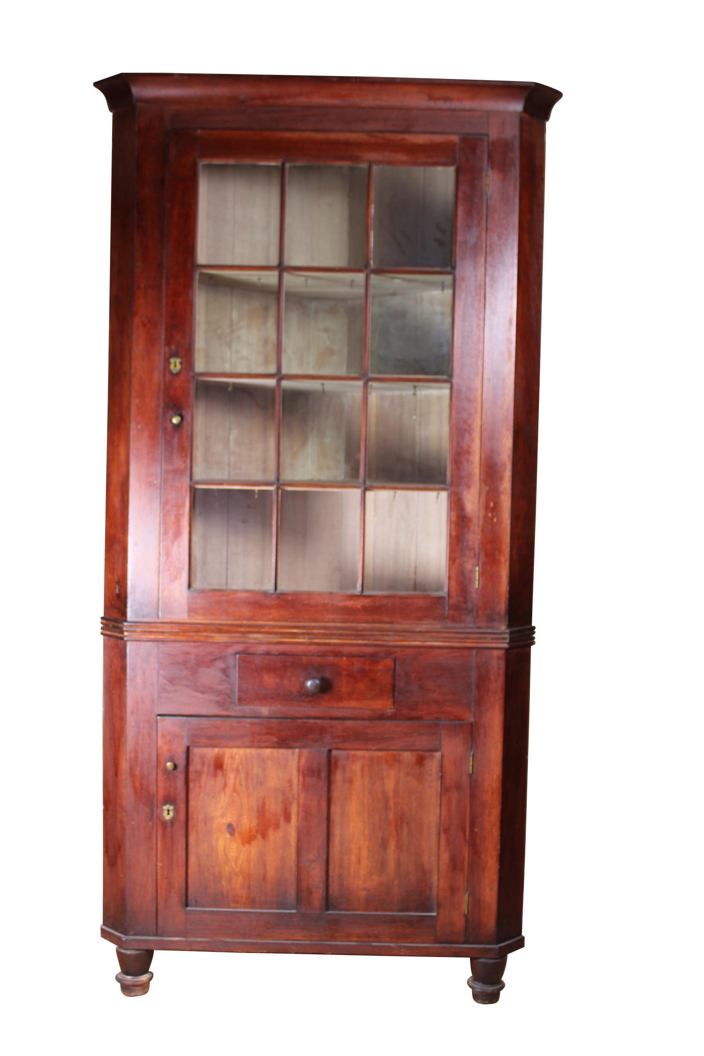 Early 19th Century Antique Walnut Corner Cabinet Chairish