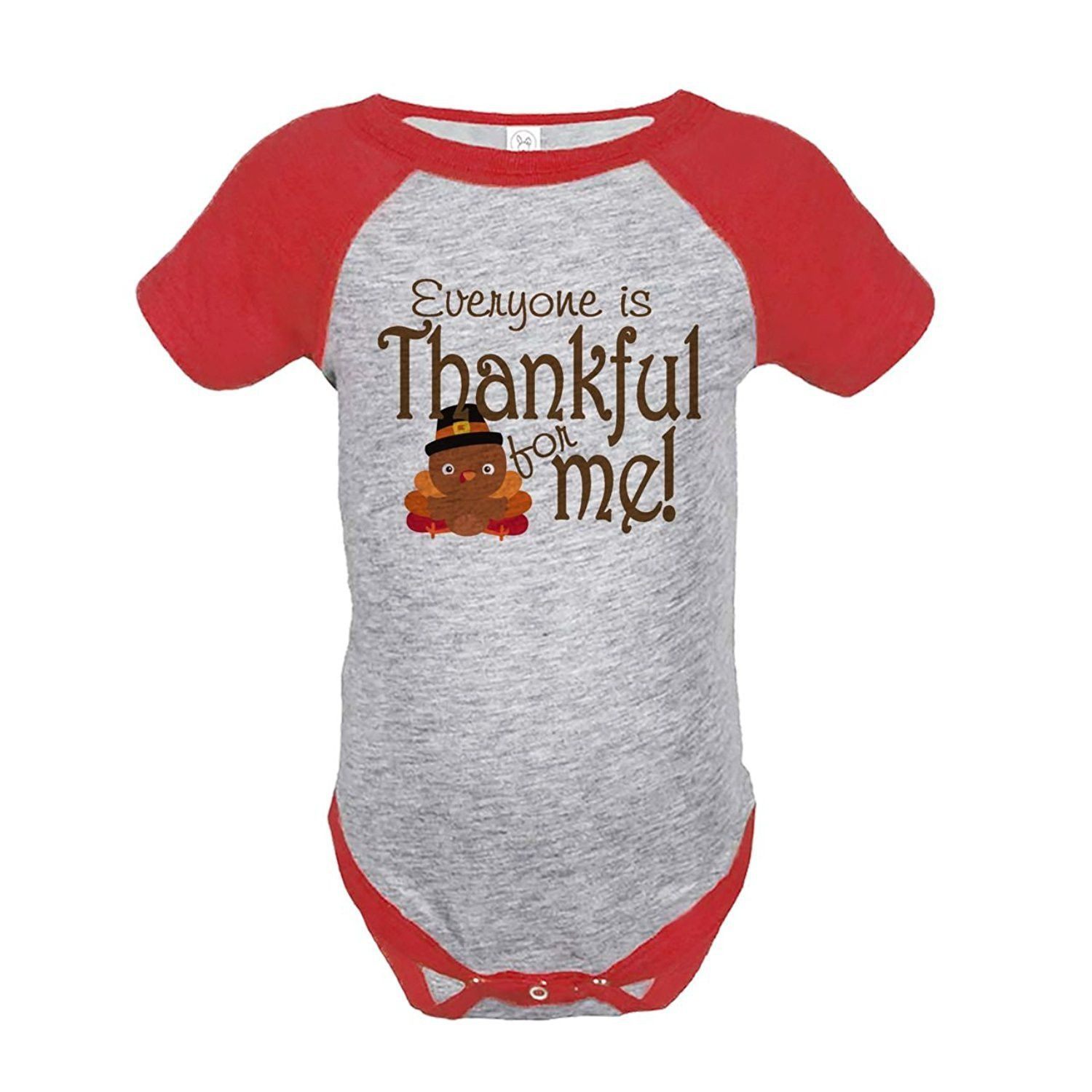 Custom Party Shop Baby's Thankful for Baby Thanksgiving Onepiece