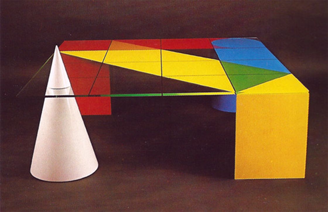 memphis furniture design. John Smith Colourband Table For Design In The Round, Australia, Memphis Furniture
