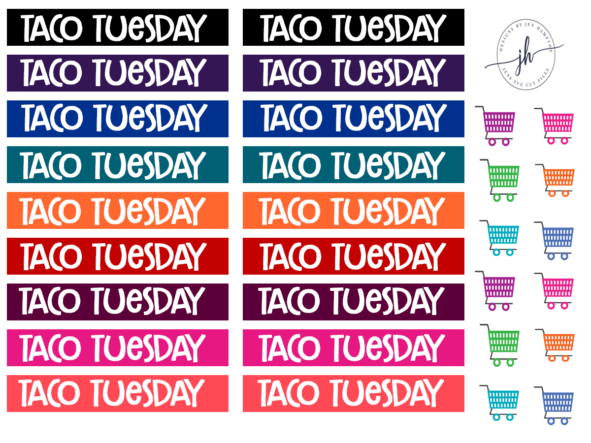 Free Planner Sticker Template Headers For Your Erin