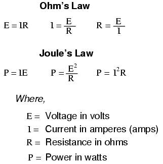Joule S Law Ohm S And Joule S Laws Electronic Engineering Electric Circuit Electricity