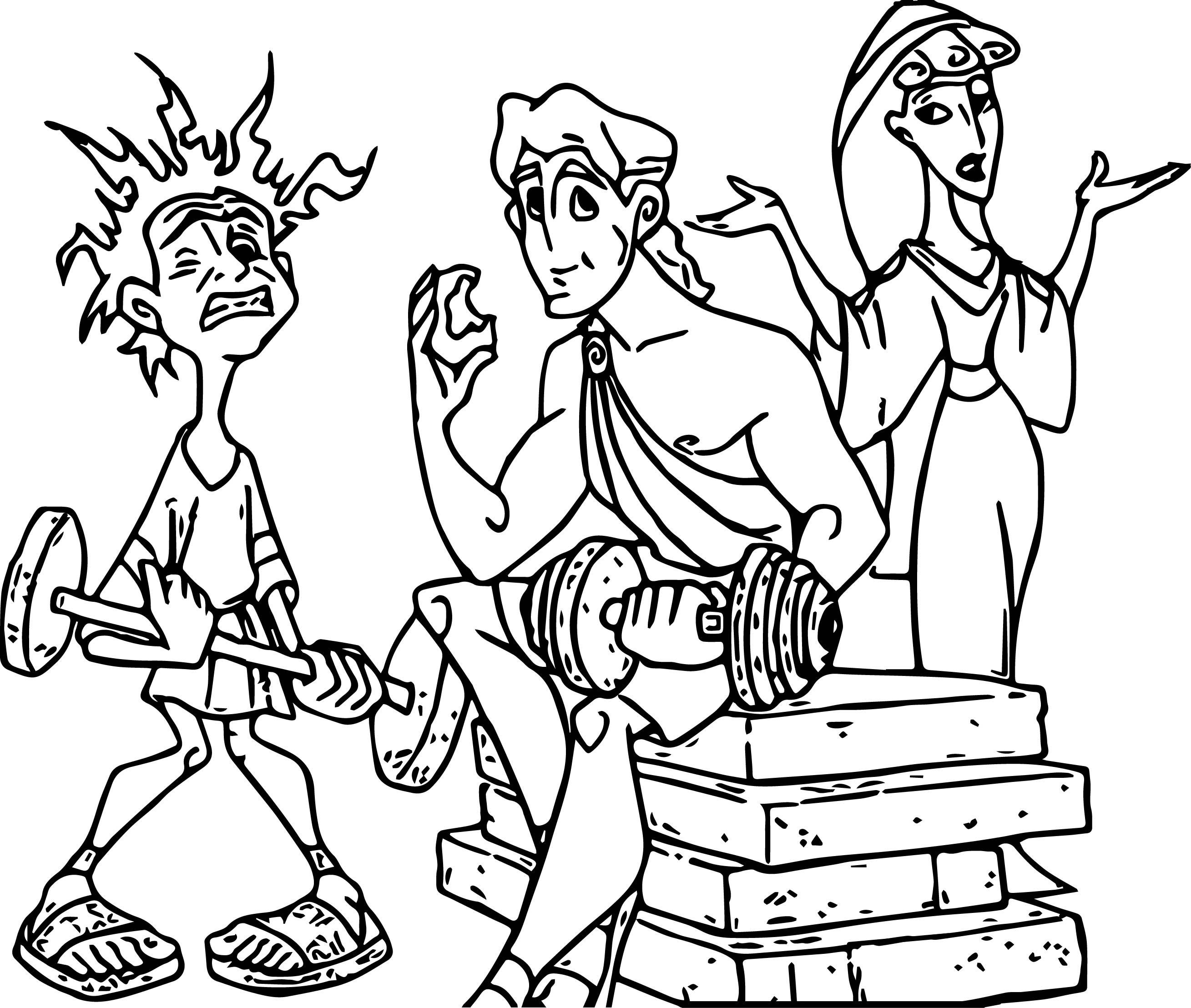 Baby Hercules and Baby Pegasus Coloring Pages