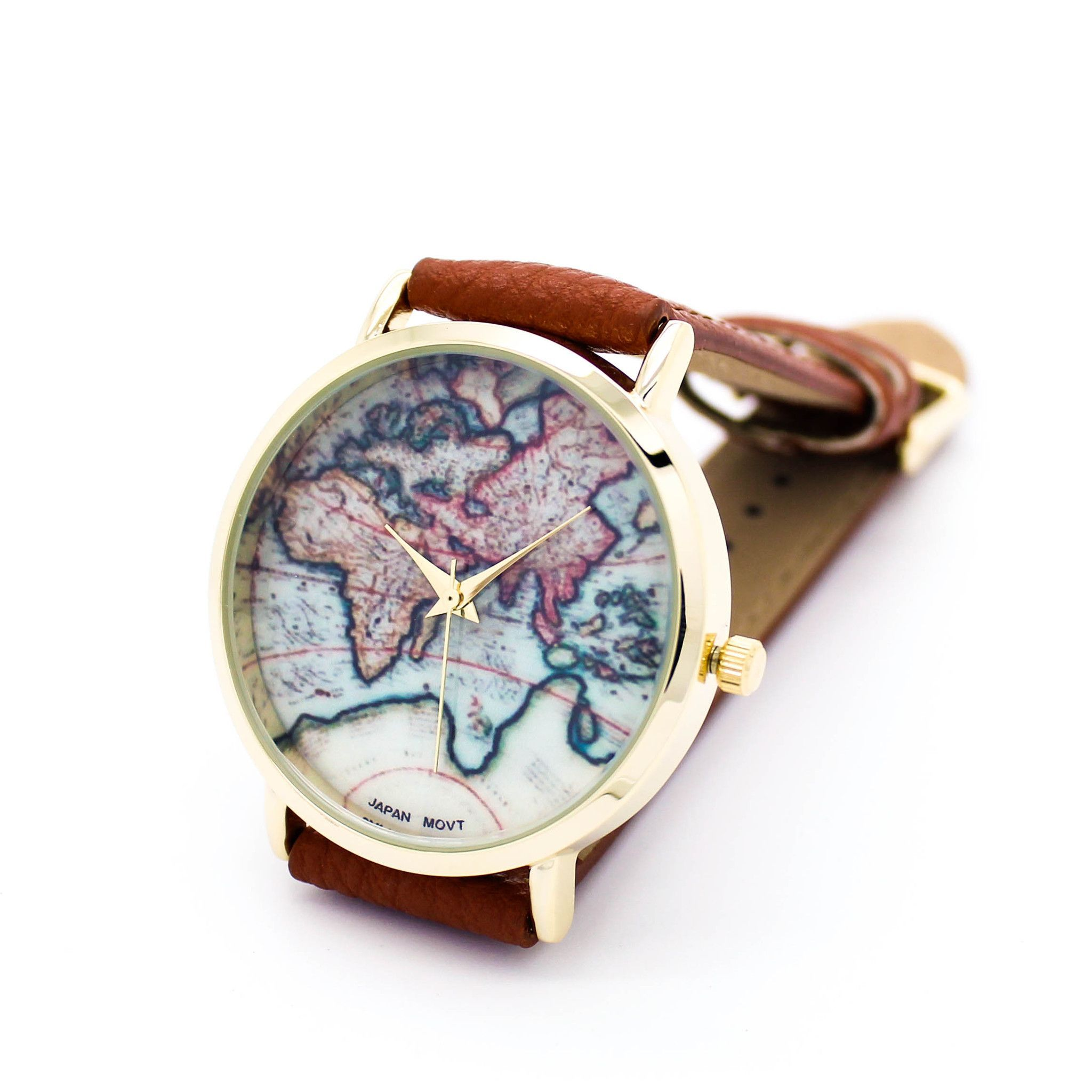 World map watch 5 colors map watch clothes and dream wardrobes world map watch 5 colors gumiabroncs Gallery