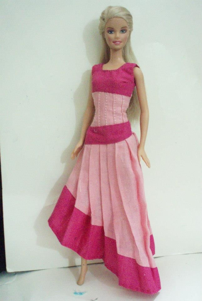 BArbie Doll in Pink Dress 2Mix
