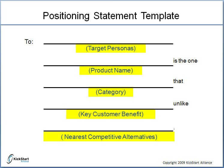 positioning statement i branding pinterest template