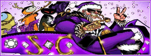 Jacked Up Santa Facebook Cover