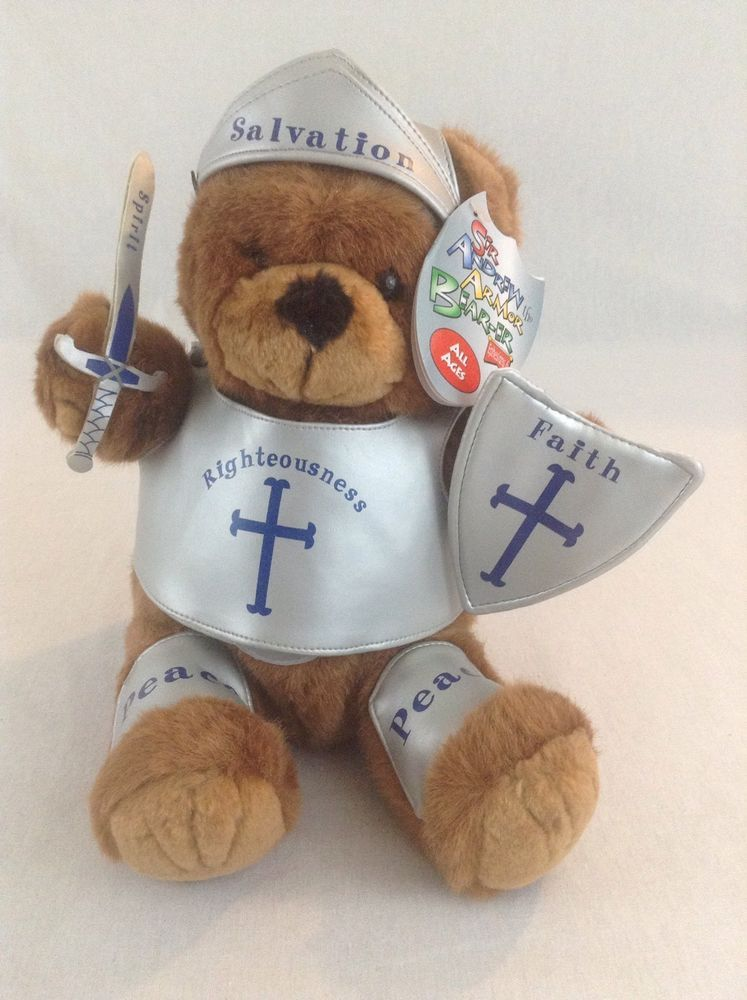 1999 Sir Andrew The Armor Bear Er Of God 10 Plush Christian Teach Toy ChariotVictorPublishing