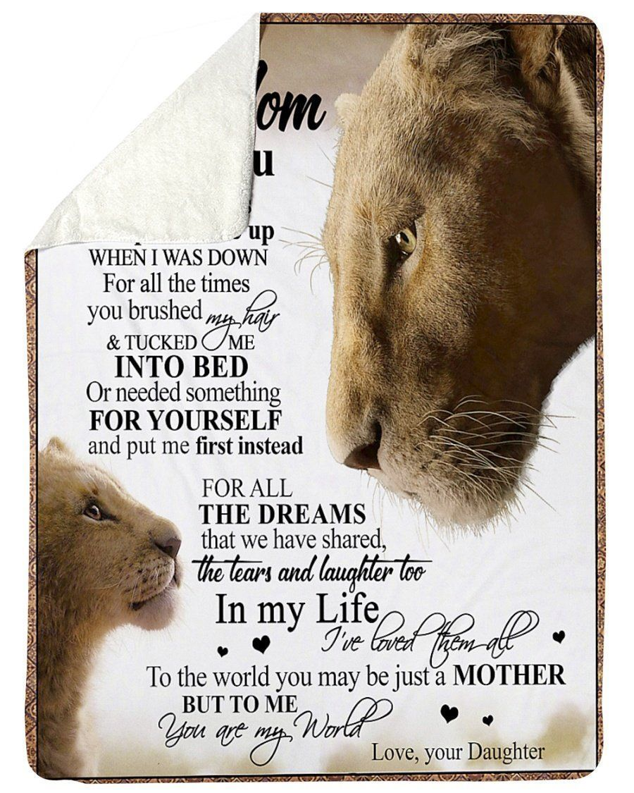 Lion Gift For Mommy You Are The World Design Sherp