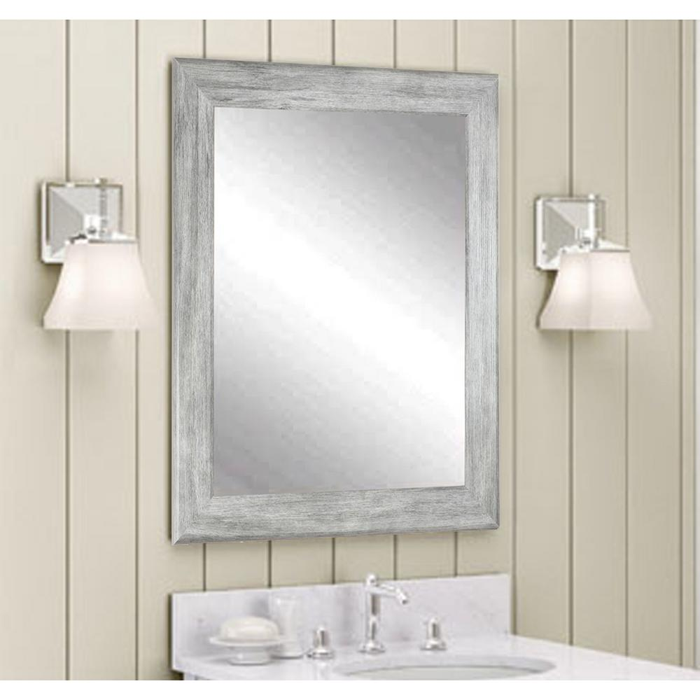 Brandtworks Weathered 33 In W X 27 In H Framed Rectangular Bathroom Vanity Mirror In Weathered Gray Bm035m2 The Home Depot Grey Wall Mirrors White Wall Mirrors Vanity Wall Mirror [ 1000 x 1000 Pixel ]