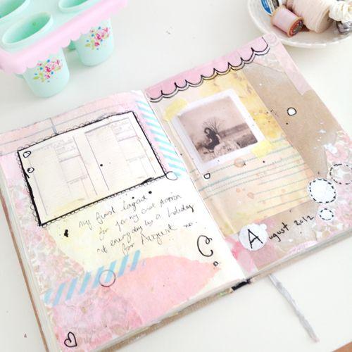 I love her work!  Heart Handmade UK: Pastels in My Journal   Art Journalling Update   Journalling With Everydayisaholiday