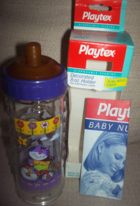 Vintage NOS Barney Baby Bottle wirh Nipple and Hood
