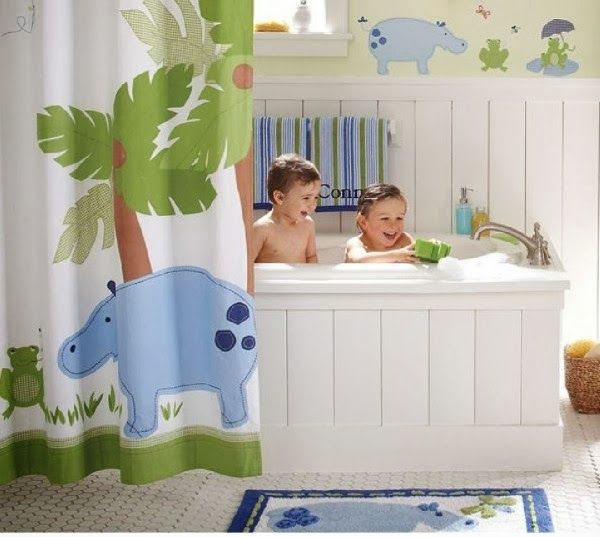 8 Tips For Decorating Kids Bathrooms at ALittleClaireification.com #makeover #bathrooms