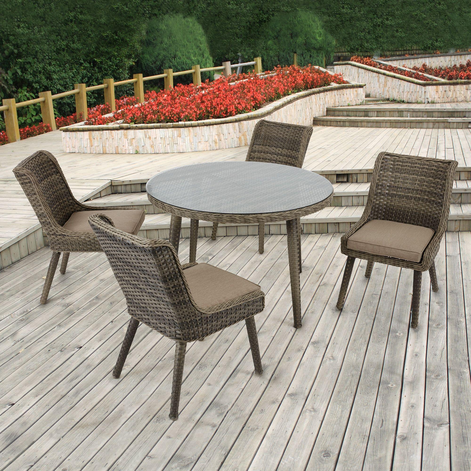 Madison Park Dana Grey Outdoor Round Table Dia 45 875 X 29 375 H Patio Furniture Aluminum