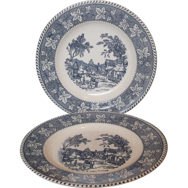 Homer Laughlin Shakespeare Country Dinner Plates  sc 1 st  Pinterest & Homer Laughlin Shakespeare Country Dinner Plates | Pottery ...