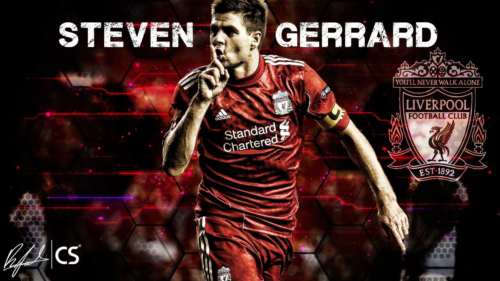Steven Gerrard 10 Wallpaper HD Liverpool FC Pinterest