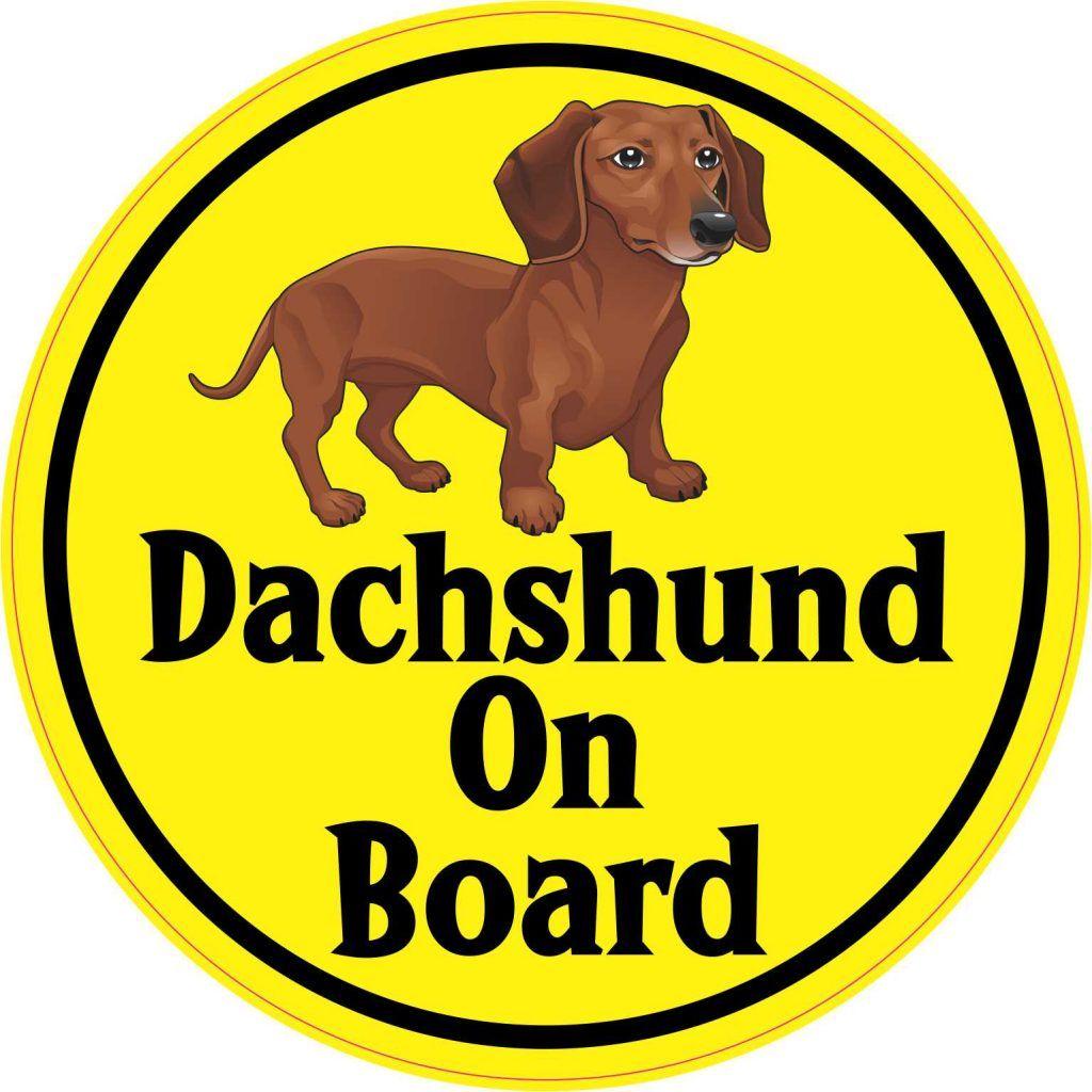 Stickertalk Dachshund Brown Dachshund Vinyl Sticker [ 1024 x 1024 Pixel ]