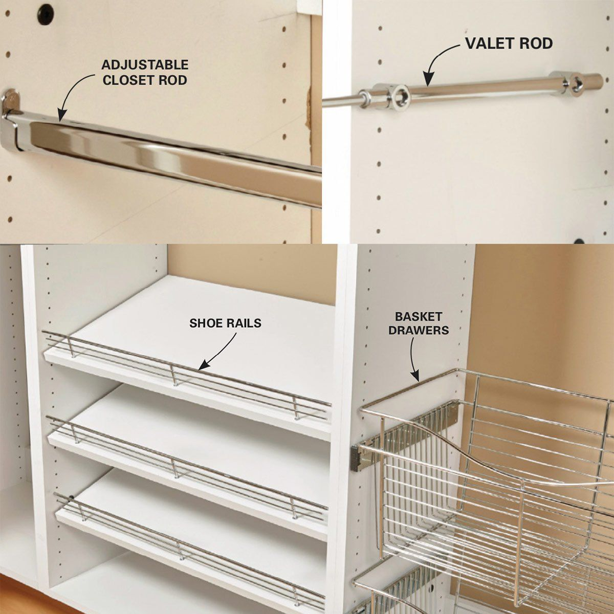 Build Your Own Melamine Closet Organizer Closet Organization Closet Organizer With Drawers Closet Built Ins