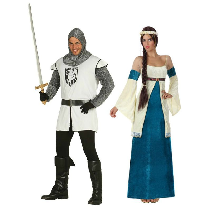 Pareja disfraces de pr ncipes medievales parejas - Difraces para carnaval ...