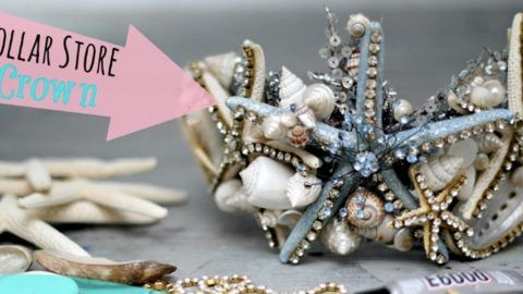 Watch How She Makes This Spectacular Mermaid Tiara For Halloween! | DIY Joy Projects and Crafts Ideas