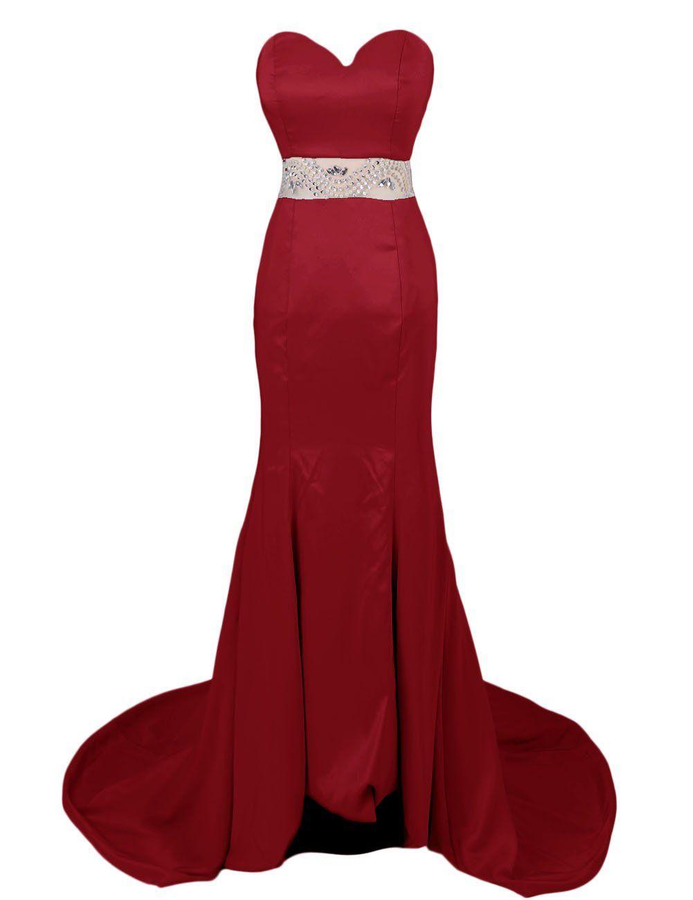 Dresstells womenus long mermaid satin dress prom dress wedding dress