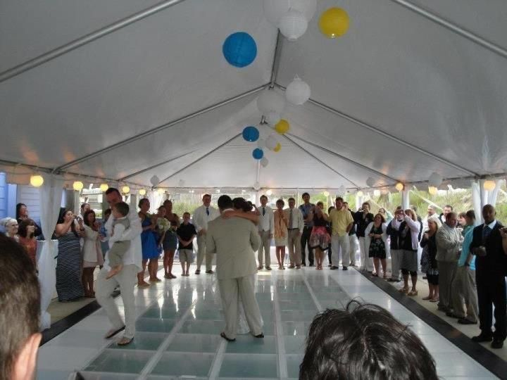 Our Dance Floor Installed Over A Swimming Pool To Create A Temporary Platform Pool Cover The Results Are Dra Pool Wedding Backyard Wedding Dance Floor Wedding