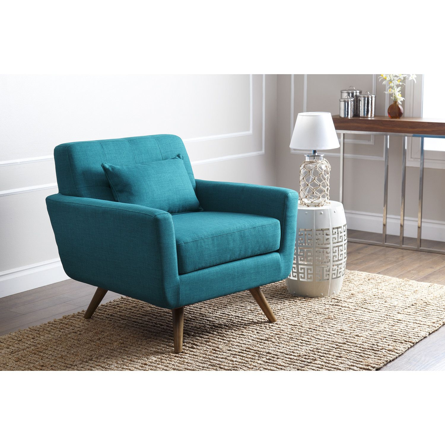 Abbyson Living Leyla Fabric Arm Chair For the Home