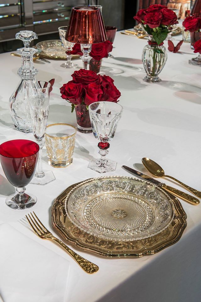 A beautiful place setting adorned with Harcourt and Vega