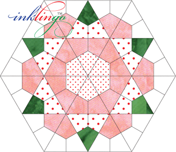 Use Inklingo Kites To Make Rose Star English Paper Piecing Quilts Hexagon Quilt Paper Piecing Quilts
