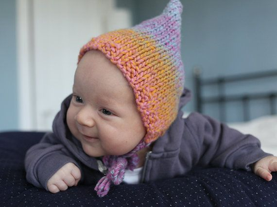 Pixie Hat Knitting Pattern, PDF Knitting Pattern, Knit Baby Hat ...