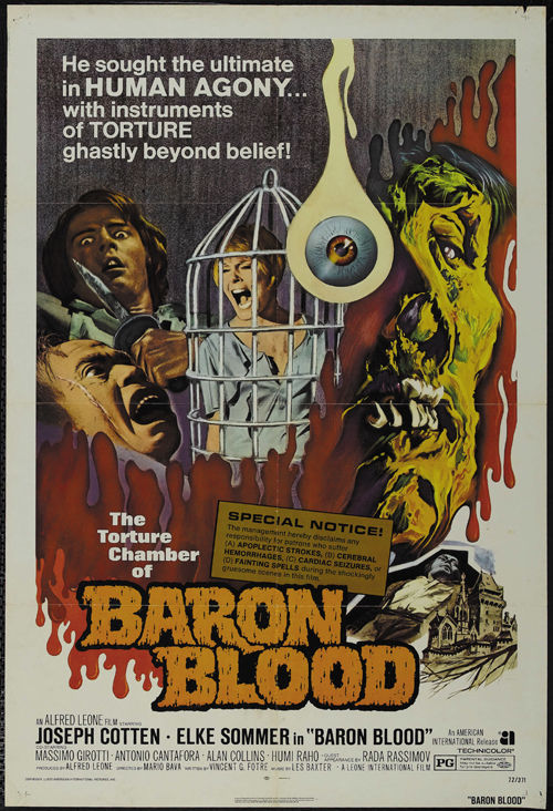 Brain of Blood 1972 Cult Horror movie poster print