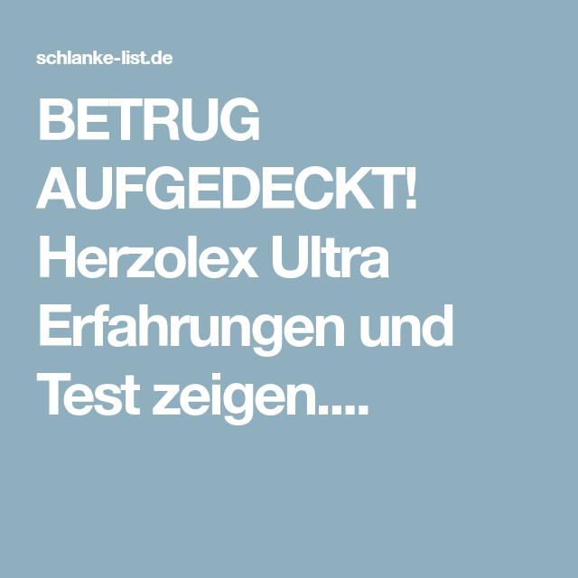 Kunden Packen Aus Herzolex Ultra Erfahrungen 2018 Gesunder Korper Betrug