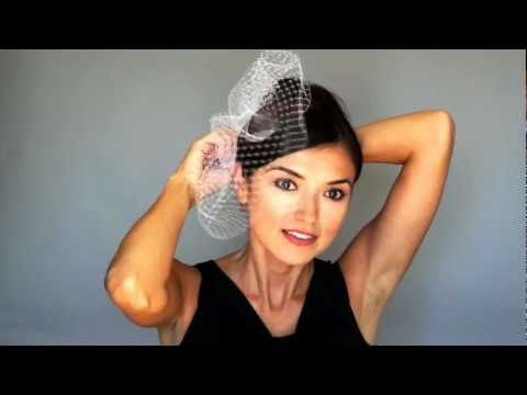 ef58128d6d4ed How to Wear Birdcage Veil - super helpful youtube channel ...
