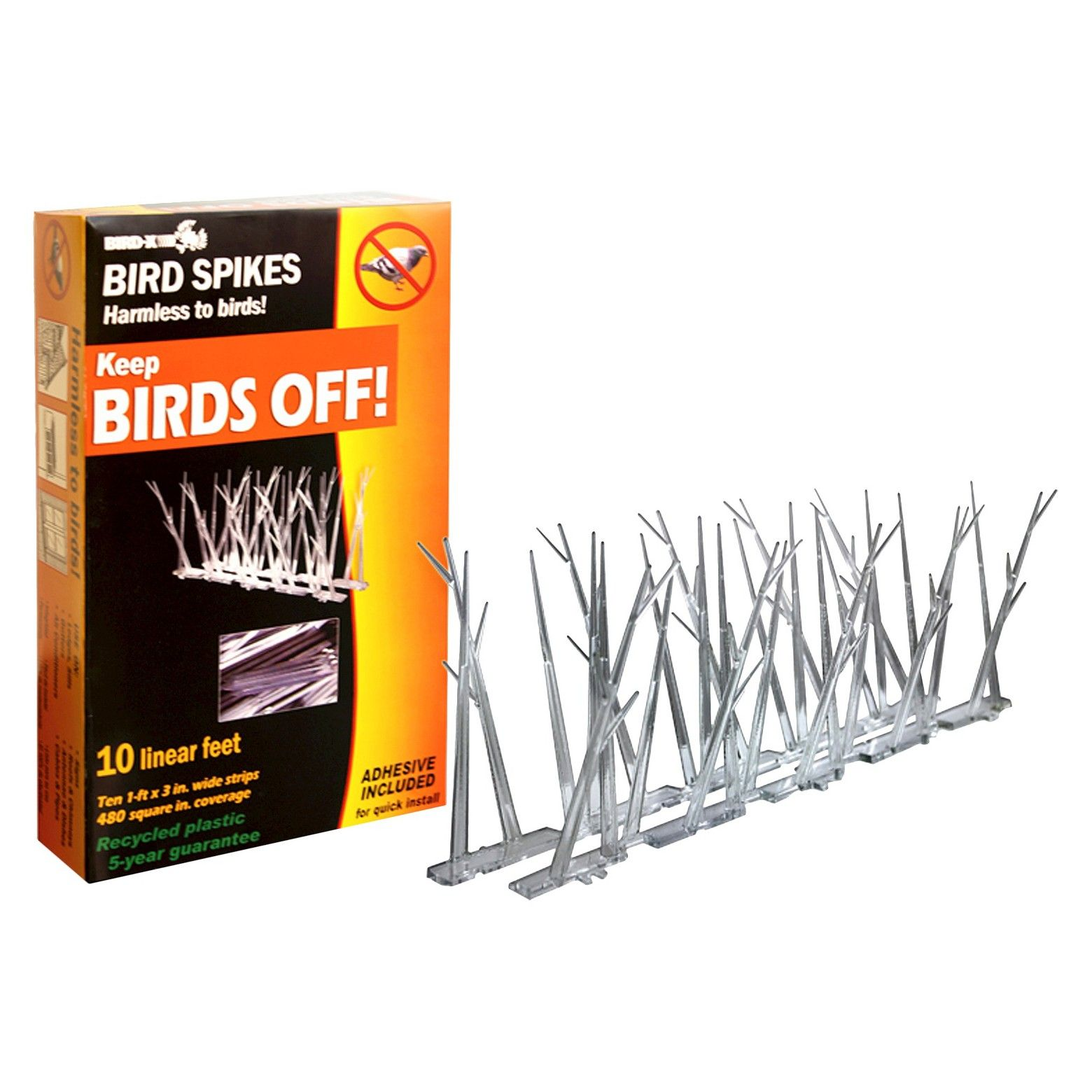 Block pest birds from landing on a porch balcony or any