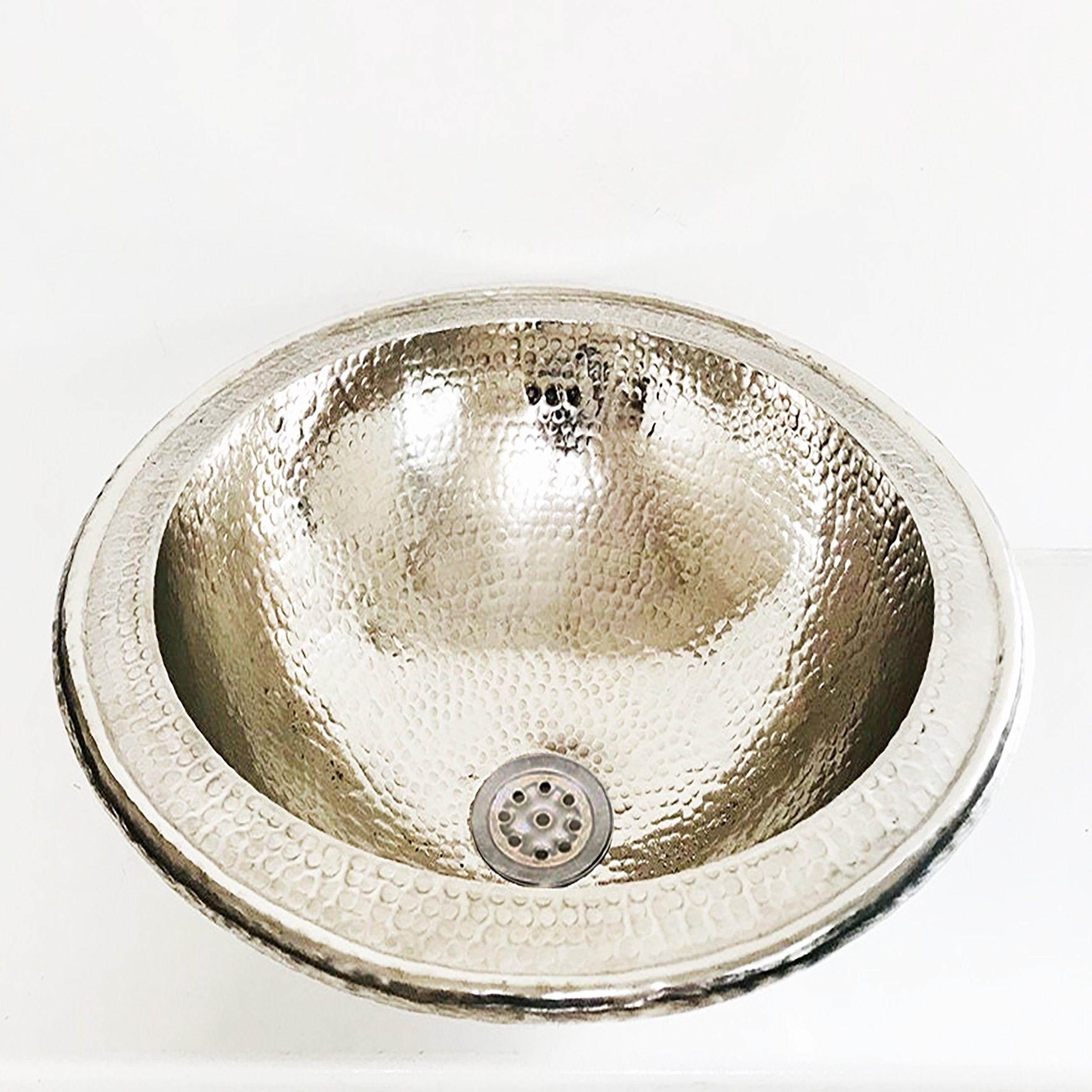 Copper Round Kitchen Sink main martelé