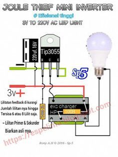 joule thief 220v ac mini inverter awesome joule thief. Black Bedroom Furniture Sets. Home Design Ideas