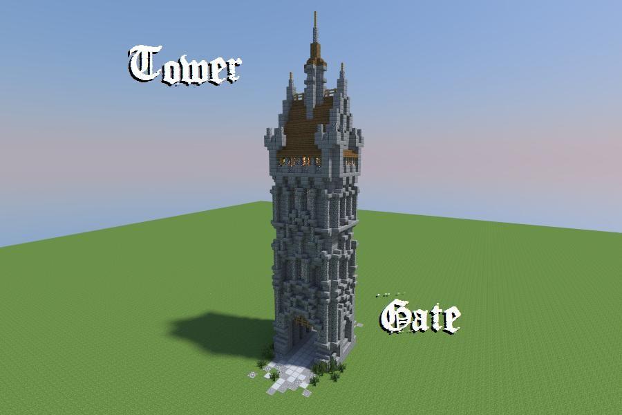 minecraft gate. Tower Gate Minecraft Project