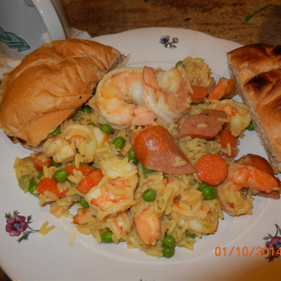 einfache garnelen paella rezept rezepte hühnerbrühe