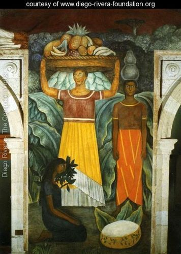 Political vision of the mexican people tehuana women mujeres tehuanas 1923 fresco north wall - Moderne fresco ...