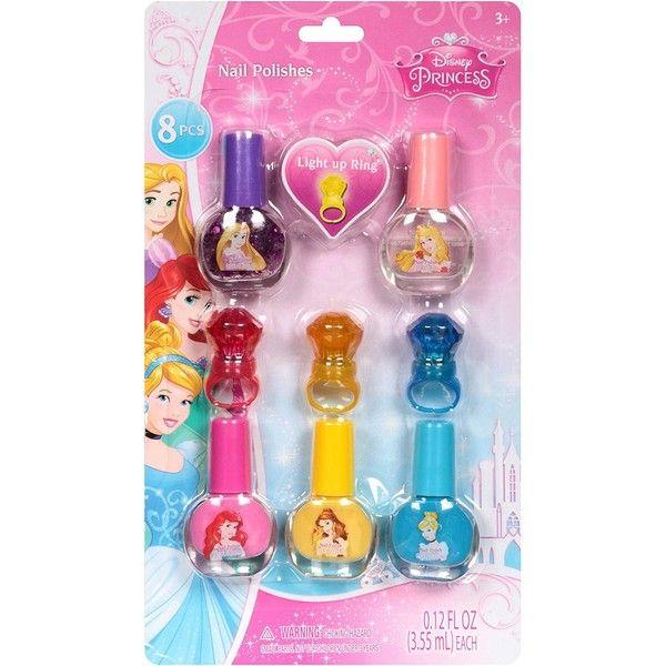 Disney Princess Nail Polishes Set, 8 Pc 5 Nail Polishs 3 Light up ...