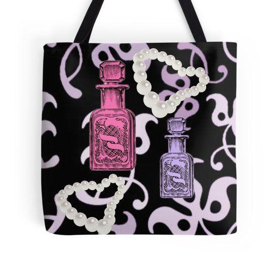 Apothecary   Pearls  Tote Bag by moondreamsmusic 07b44766b116