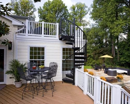 Best Outdoor Metal Staircase With Images Rooftop Patio 400 x 300