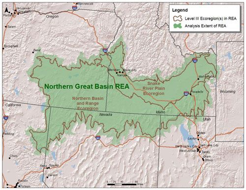 Northern Great Basin REA Map maps Pinterest Basin