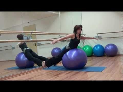 Упражнения для спины с мячом Exercises for the back with ...