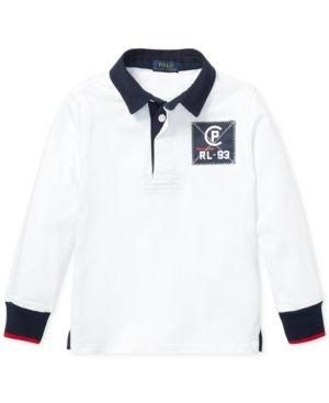 032312daf11d Ralph Lauren Toddler Boys Cp-93 Cotton Rugby Shirt - White 2 2T ...