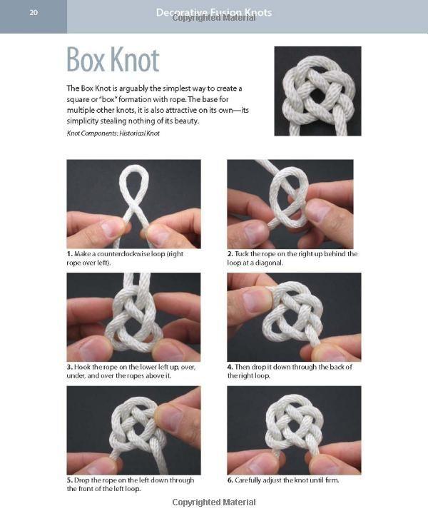 Box Knot With Images Knots Knots Diy Knot Pillow