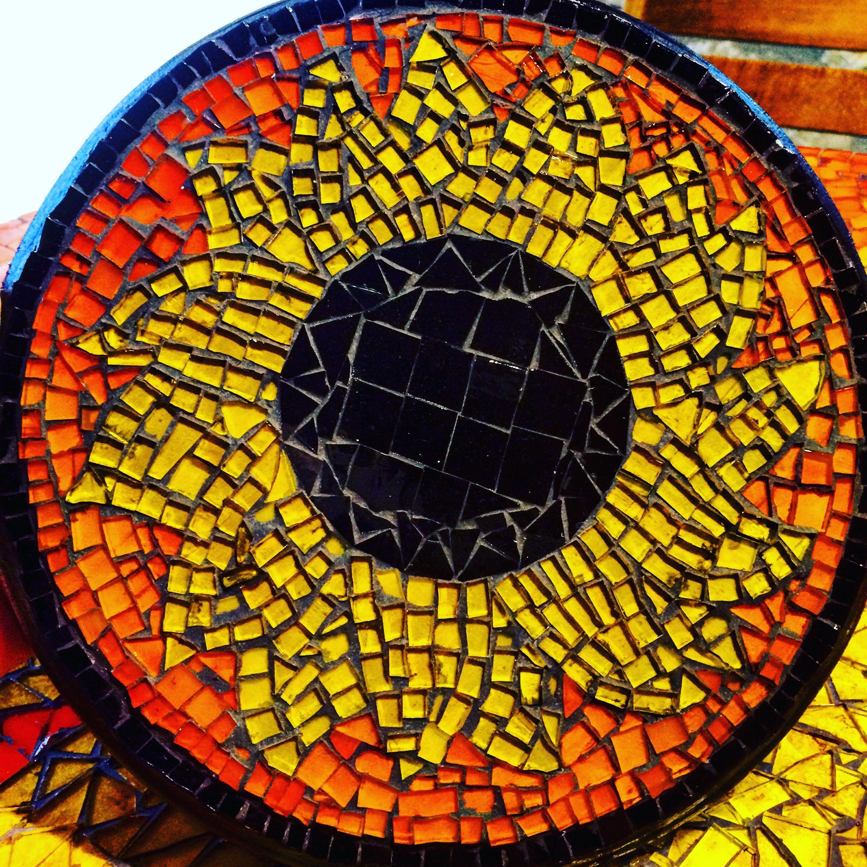 Mosaic sunflower.