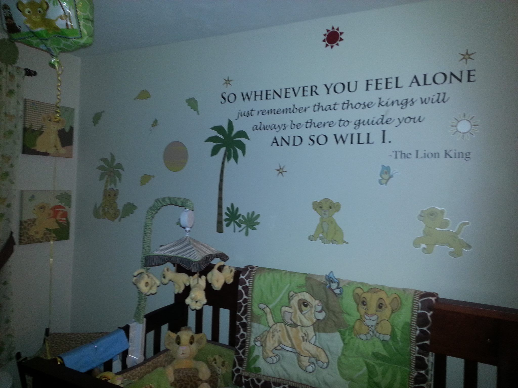 DIY Nursery decor! adhesive quote from Lion King. Vinyl ...